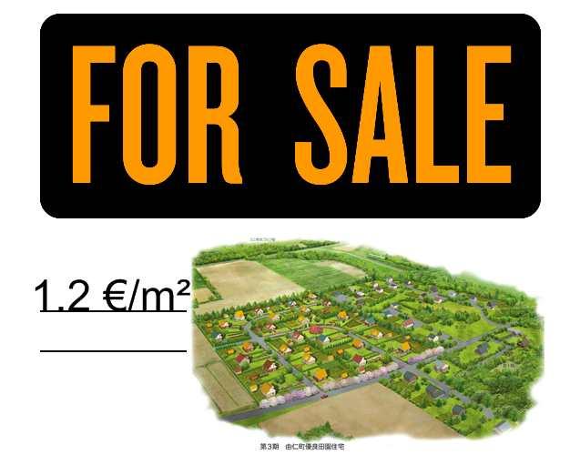 Bouwgrond te koop – 1,2 €/m². Wie biedt minder?