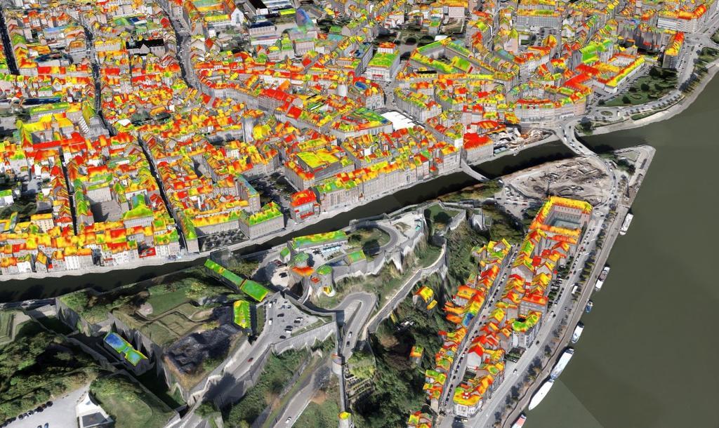 Les toits de Namur pourraient produire autant que 80 éoliennes