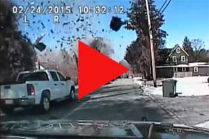 Vreselijke ontploffing van een huis in het stadscentrum (video)