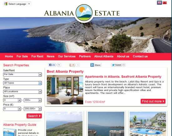 Albanese vastgoedexplosie in vraag