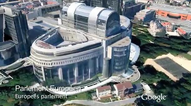 Google geeft een rondleiding boven Brussel! (video)