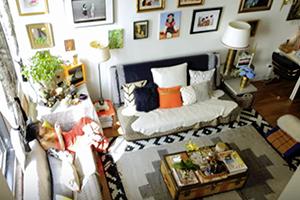 Binnenkijken in een klein maar indrukwekkend New Yorks appartement
