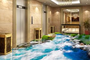 5 vloeren en muren in 3D die tot de verbeelding spreken