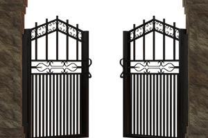 Mag je een poort plaatsen aan een 'uitweg'?