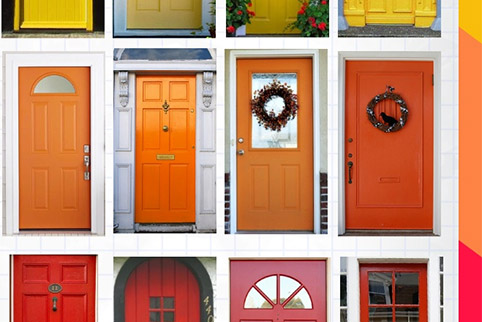 De kleur van uw voordeur: welk gevoel roept die op?