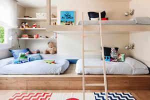 Interieurinspiratie: 2 kinderen, 1 slaapkamer