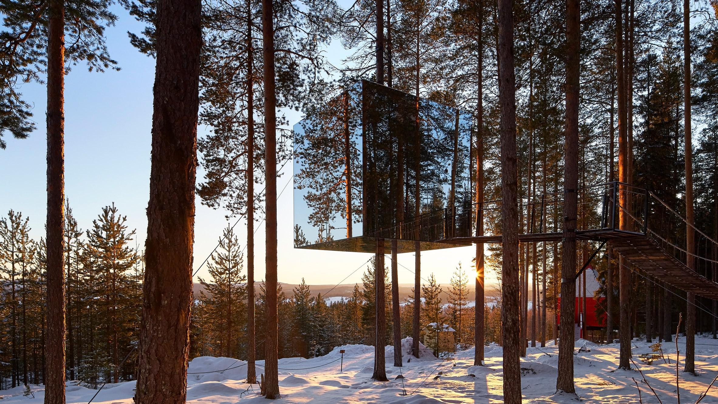 Insolite : un hôtel camouflé dans les arbres