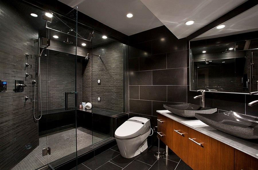 4 donkere badkamers die bewijzen dat zwart de juiste keuze is