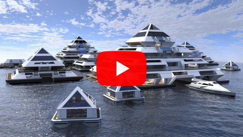 Een nacht in het drijvend piramidehotel kost € 1.000