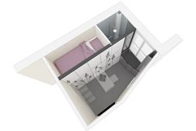 Impressionnant: une pièce de 8m² transformée en studio fonctionnel.