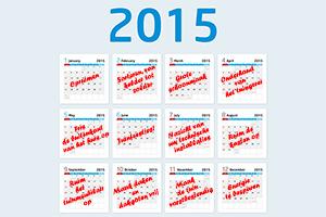 Entretien de la maison: votre calendrier 2015.