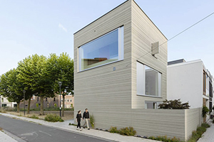 L'aménagement ingénieux et original d'une maison étroite