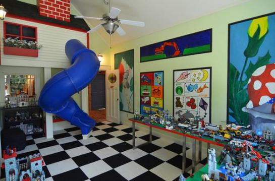 Immovlan - idée chambre d'enfant tobbogan