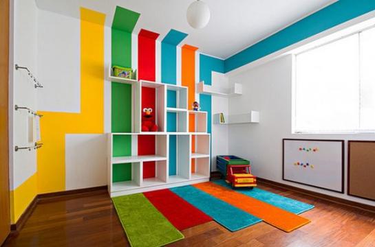 Immovlan - idée chambre d'enfant en couleur design