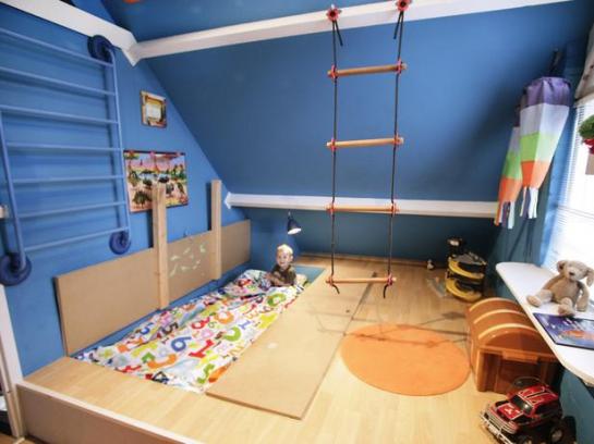 Immovlan - idée chambre d'enfant coin gymnastique