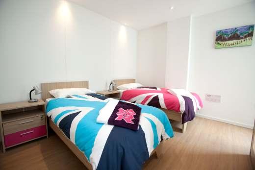 appartementen van het olympisch dorp in Londen