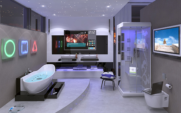 Hightech badkamer