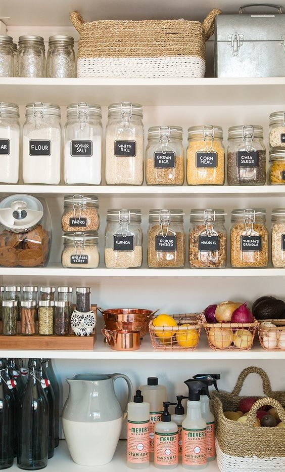 Voorraadkast Voor Keuken : Mason Jar Pantry Containers