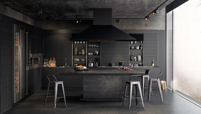 Woonkamer Zwarte Keuken : Prachtige zwarte interieurs
