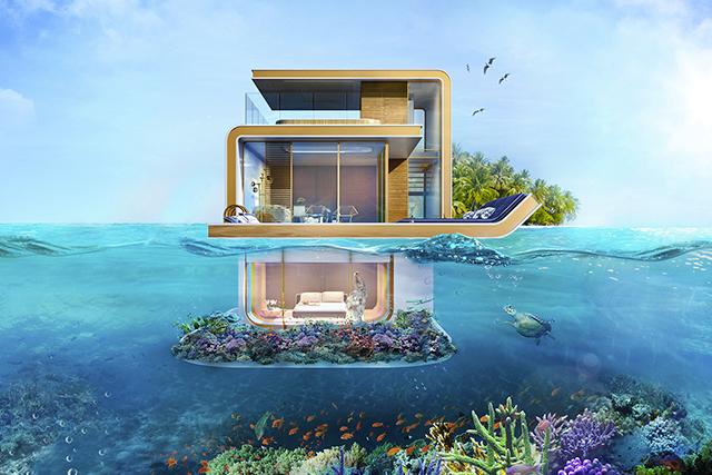 Immo nieuws koop een drijvende villa en slaap in een aquarium 09 06 2016 - Tijdschriftenrek huis van de wereld ...