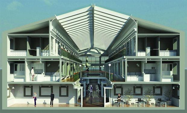 Oudste winkelcentrum in de VS omgetoverd tot appartementen
