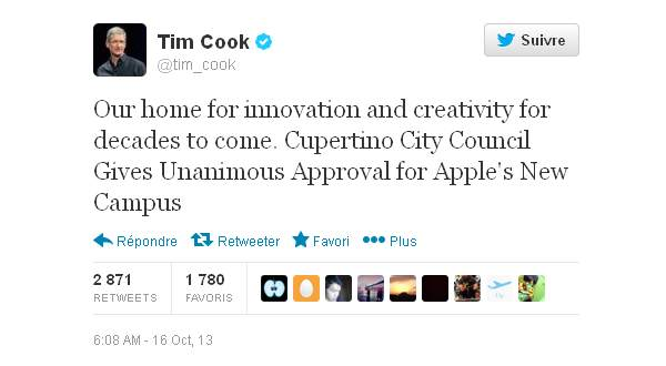 Tweet Tim Cook