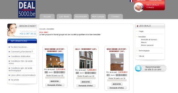 Participeren in vastgoed Deal5000 – Immovlan.be
