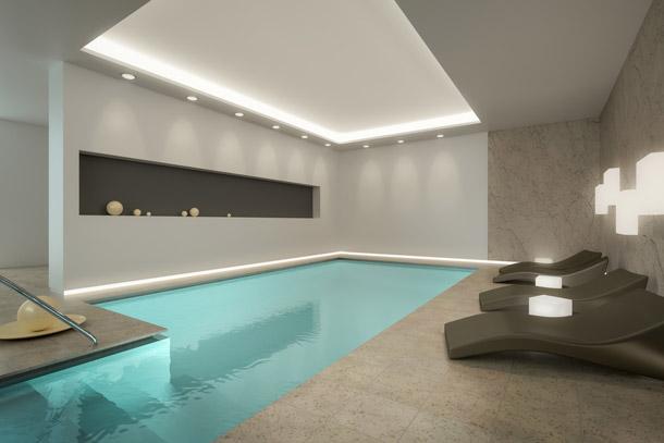 Actu immo 5 superbes piscines d 39 int rieur - Piscine d interieur ...