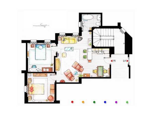 Appartement Joey et Chandler - Friends - Immovlan.be