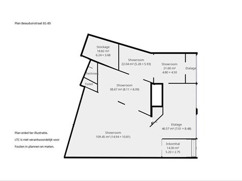 Surface commerciale à vendre à Tienen (RAO82538)