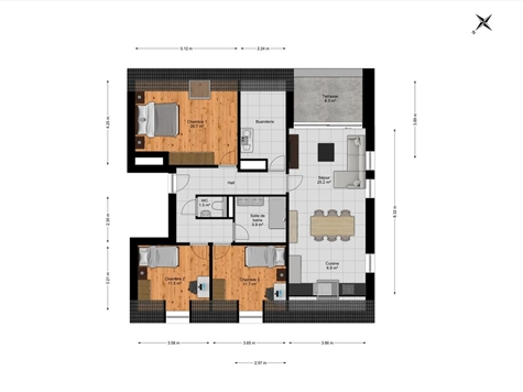 Appartement à vendre à Hautrage (VAM37416)