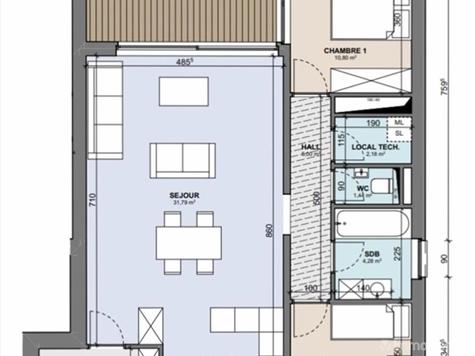 Flat - Apartment for sale in Boncelles (VAM02026)